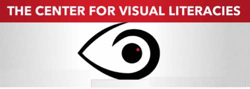 Image: Eye logo with words Center for Visual Literacies