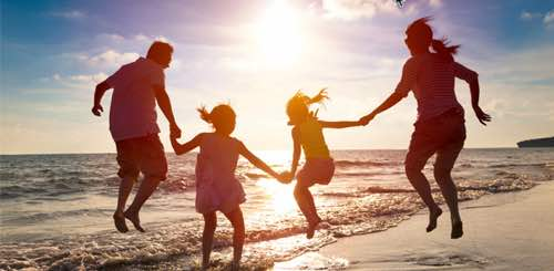 Photo: family at the beach