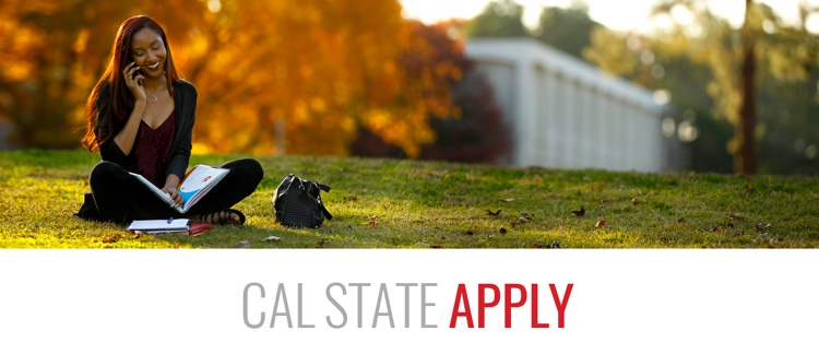 Cal State Apply, woman on phone