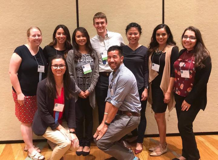 Photo: Group of students pose for photo at the 2017 California Association of School Psychologists (CASP) Annual Convention