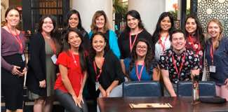 Photo:   School Psychology and Speech Language Pathology ¡PUEDE! scholar teams together  at NABE 2019.