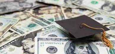 Image: paper money and image of graduation cap