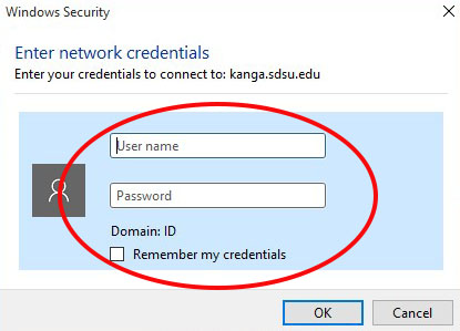 ID user account credentials