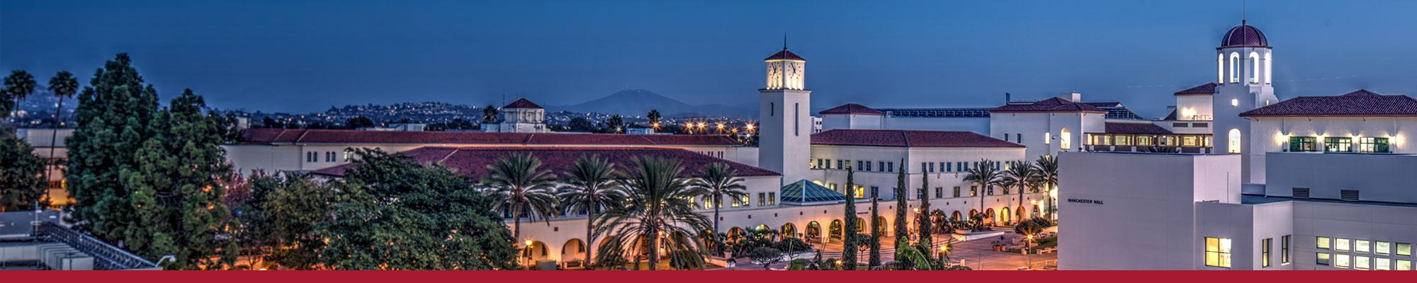 SDSU Campus at Night