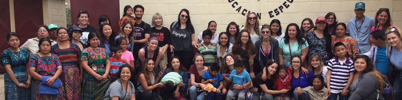 SDSU students at school in Guatemala