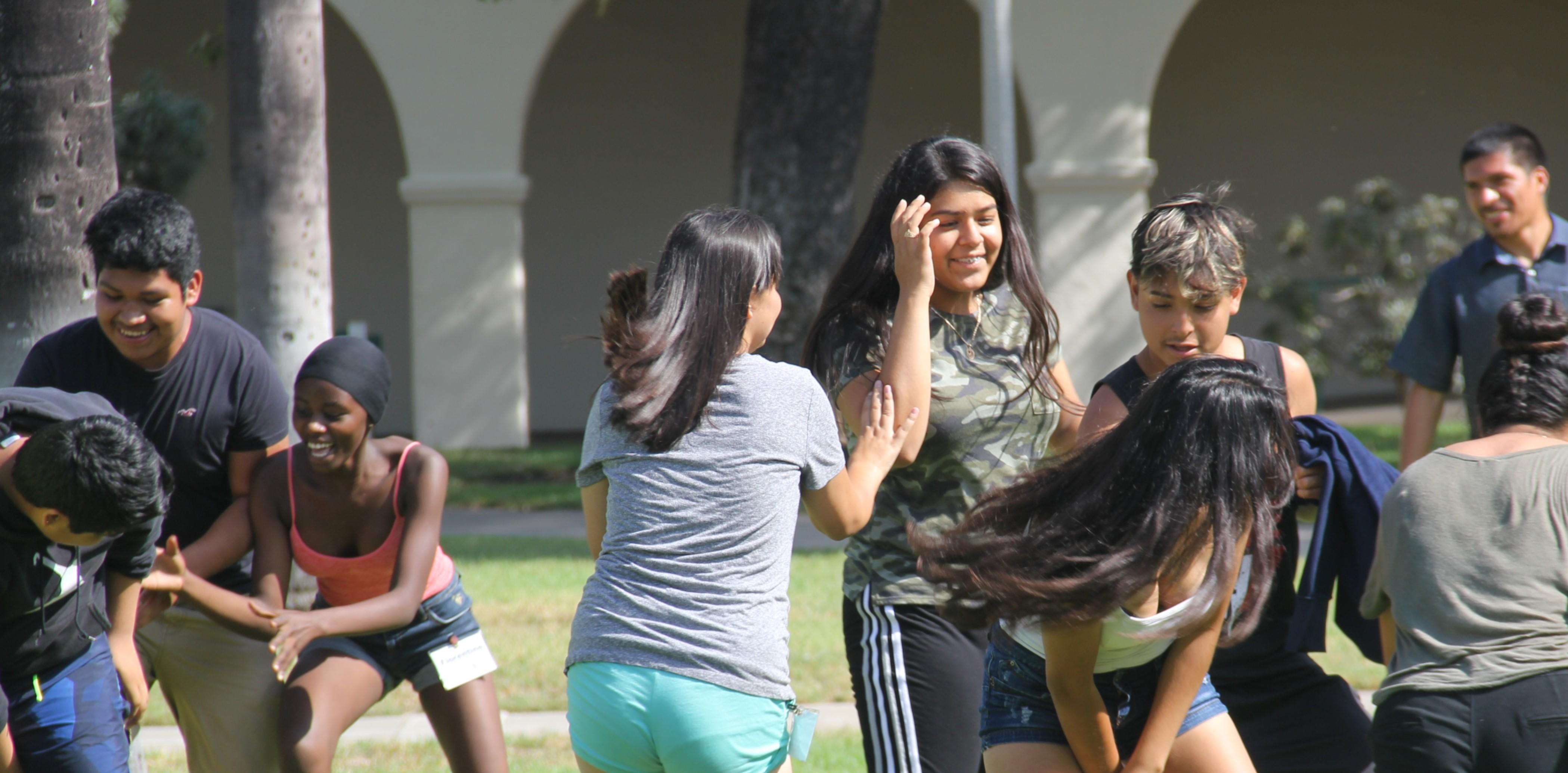 Students during outdoor activity.