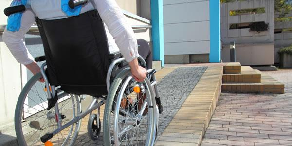Person in a wheel chair.