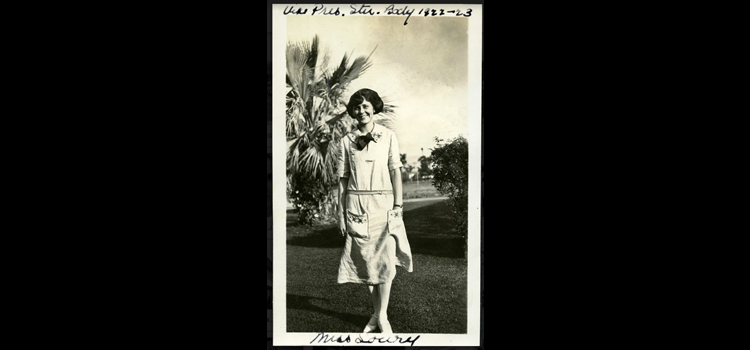 An outdoor portrait of Margaret Lowry.
