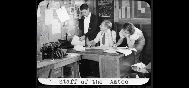 Photo of Aztec staff.