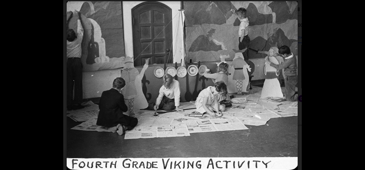 Photo of the viking activity.