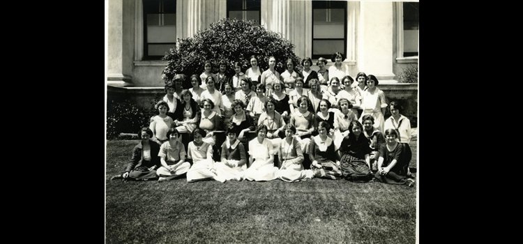 Women sitting together.The Teacher's College Women's Club.