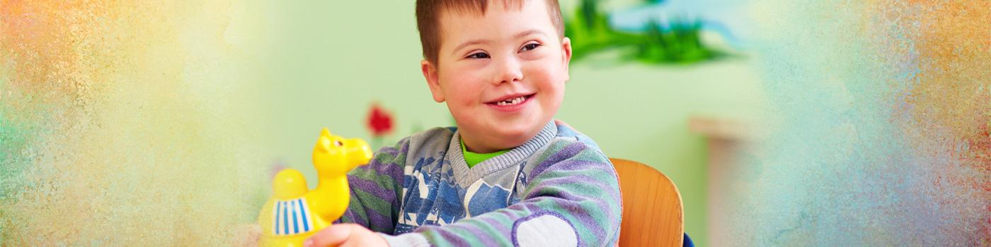 kindergarten child with down syndrome