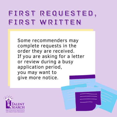 Talent Search Tips: How to Ask for a Letter of Rec